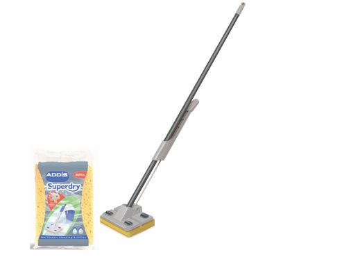 Addis 509111 Superdry Mop + Extra Refill Graphite/Metallic