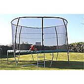 12ft Deluxe Trampoline Combo Package Plus Extra Strength Enclosure + Free Ladder