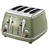 Delonghi Vintage Icona 4 Slice Toaster - Green