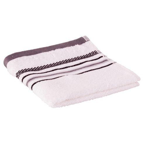 Tesco Linear Face Cloth White