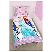 Frozen Anna & Elsa Magic Single Duvet Cover Set