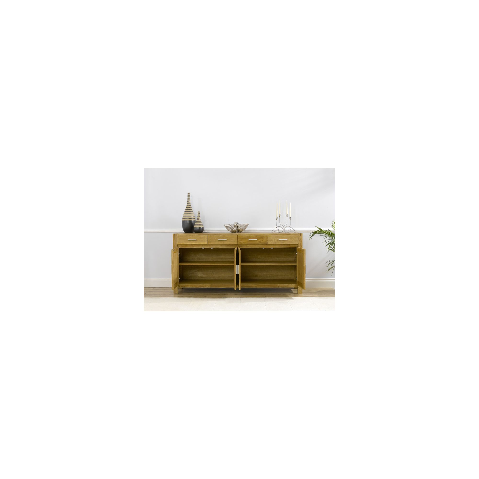 Mark Harris Furniture Verona Large Sideboard - Dark Oak - 86cm H x 140cm W x 45cm D at Tesco Direct