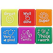 Henbrandt 6 Self Inking Motivational Teacher Stamps
