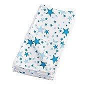 Bambino Mio MioSquares Muslin Squares Blue Star (Pack of 4)