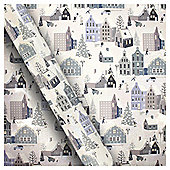 Snow Song Scene Christmas Wrapping Paper, 3m