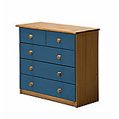 Verona Drawer Chest 3 + 2 Colour Antique and Blue
