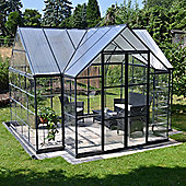 Palram Victory Orangery 12x10- Dark Grey Greenhouse - Polycarbonate and Aluminium Frame