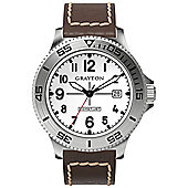Grayton Comet.Jet Mens Leather Date Watch GR-0014-003.4