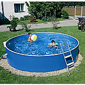 "Blue Splasher Pool 12ft x 36"" With External Skimmer Pump"