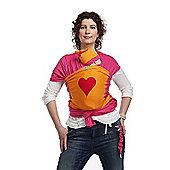 ByKay Large Designer Baby Carrier (Orange/Red Heart)