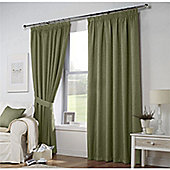 Curtina Leighton Green Lined Curtains 66x90 Inches