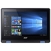 "Acer 11.6"" R11 Intel Celeron 4GB RAM 32GB Storage  2 in 1 Blue Laptop"