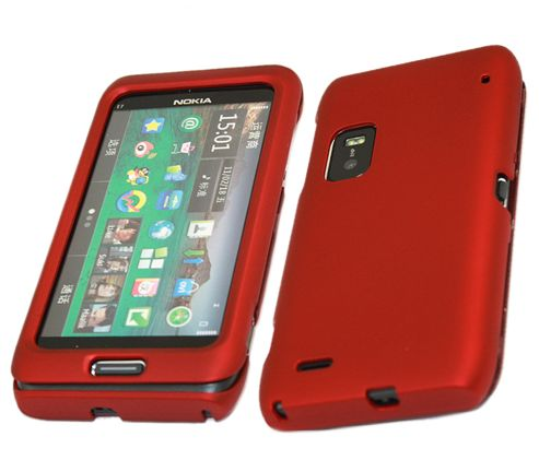 iTALKonline 18574 SnapGuard Protection Case Red - For Nokia E7 SmartPhone
