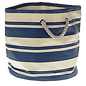 Wicker Valley Tobs Soft Storage New England Round Tub Bag in Blue