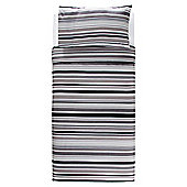 Tesco Black Stripe Duvet Single
