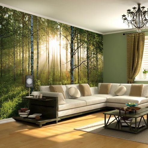 Buy 1wall giant forest sunrise wall mural from our for 1wall forest wallpaper mural