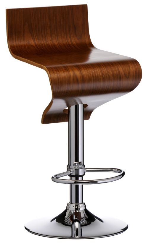 Premier Housewares Curved Wood Barstool