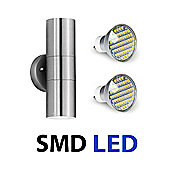 Stainless Steel Up & Down LED Outdoor Garden Wall Light