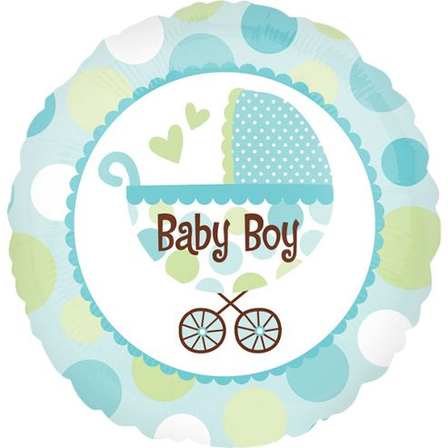 18' Baby Boy Buggy Foil (each)