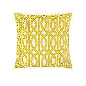 Living By Christiane Lemieux Chartreuse Maze Design Felt Cushion