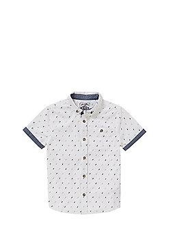 F&F Lightning Bolt Short Sleeve Shirt - White