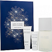 Issey Miyake L'Eau d'Issey Pour Homme Gift Set 125ml EDT + 75ml Shower Gel + 50ml Aftershave Balm For Men
