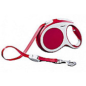 Flexi Vario M Extending Dog Lead - Red (Tape) 5m