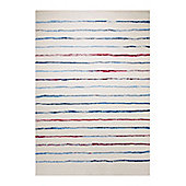 Esprit Joyful Stripes White Woven Rug - 200 cm x 290 cm (6 ft 7 in x 9 ft 6 in)