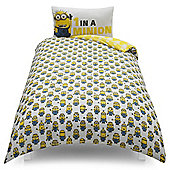 Despicable Me One in A Minion Single Duvet Set TESCO EXCLUSIVE