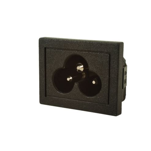 Snap-In Cloverleaf Mains Power Inlet