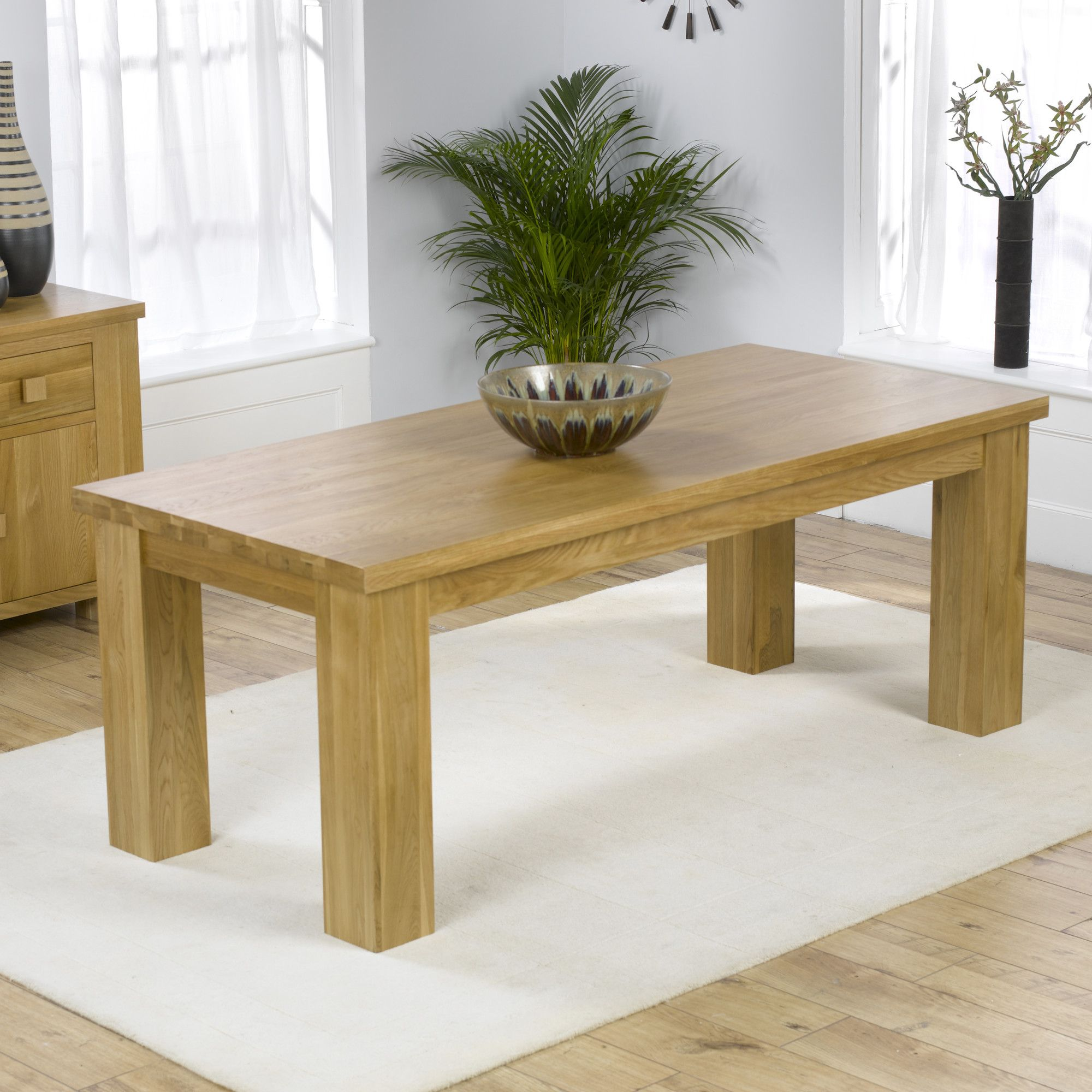 Mark Harris Furniture Barcelona Solid Oak Dining Table - 200 cm