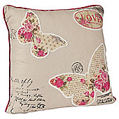 Vintage Butterfly Cushion