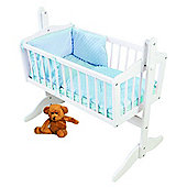PreciousLittleOne Crib Set (Dimple Blue)
