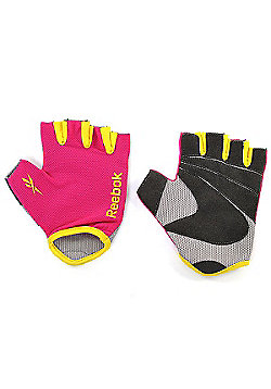 Reebok Ladies Womens Fitness Workout Gym Gloves Magenta - Pink