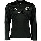 adidas New Zealand All Blacks 2015/16 Long Sleeve Rugby Shirt - Black