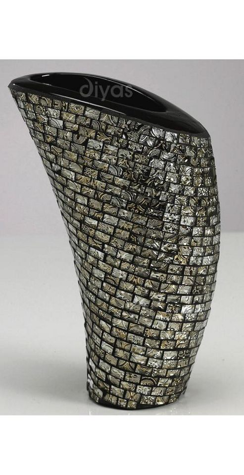 buy beautiful black and bronze mosaic vase from our vases. Black Bedroom Furniture Sets. Home Design Ideas
