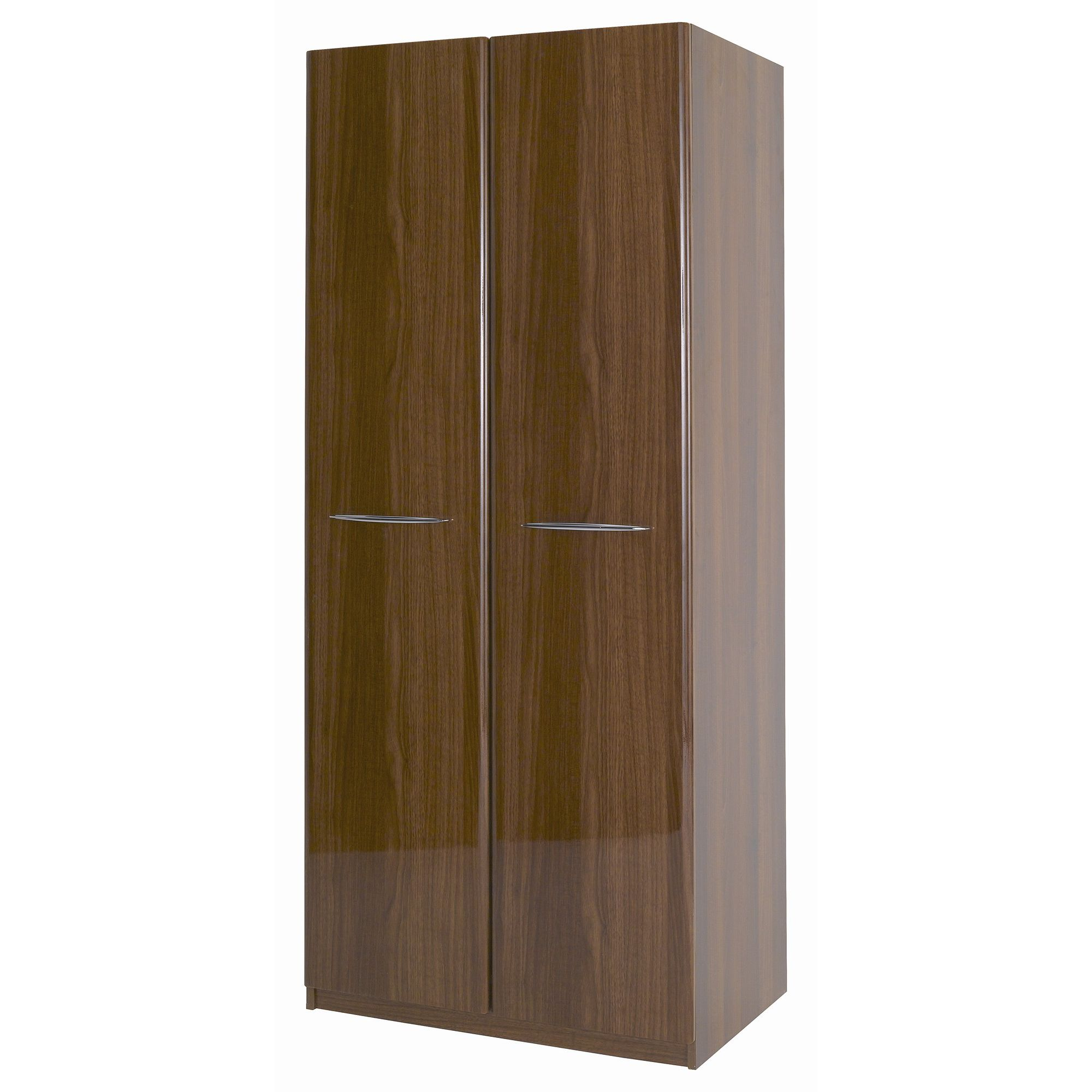 Alto Furniture Visualise Murano Two Door Wardrobe in High Gloss Walnut at Tesco Direct