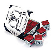 Silver Cup Billiard Chalk (12 Pieces) - Chalk Colour : Red Chalk