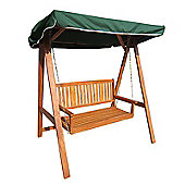 Bentley Garden 3 Seater Wooden Swing Chair with Canopy