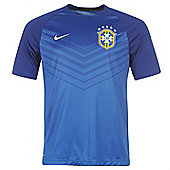 2014-15 Brazil Nike Pre-Match Training Shirt (Blue) - Blue