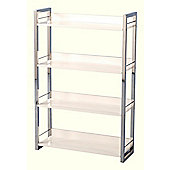 Home Essence Boston Four Shelf Bookcase/Display Unit in Black - White