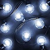 20 Galaxy Globe Ice White LED Lights