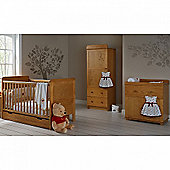 OBaby Winnie the Pooh Premium Single 4pc Room Set (Country Pine)