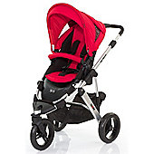 ABC Design Cobra Pushchair - Silver & Cranberry