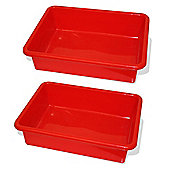 Bigjigs Rail Train Table Drawer (Red) (Pack of 2)