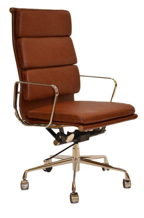 buy eames ea219 inspired high back soft pad leather office chair from