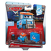 Disney Pixar Cars Diecast Luke Pettlework with Tires & Tool Cart
