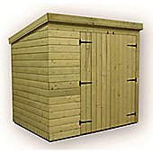 7ft x 6ft Windowless Pressure Treated T&G Pent Shed + Double Doors