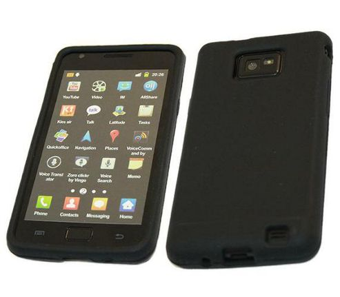 iTALKonline SoftSkin Silicone Case Black - For Samsung i9100 Galaxy S II S2