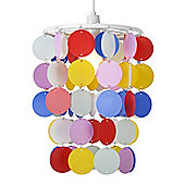 Spots Ceiling Pendant Light Shade in Multi Coloured